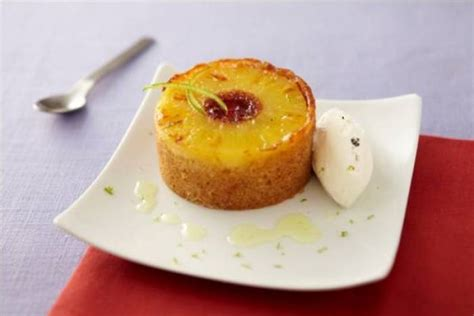 pineapple upside  cake  lemongrass drizzle