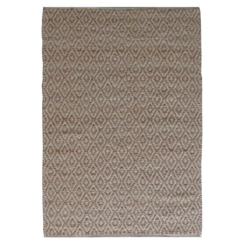 tapis de salon en coton et jute chapati by drawer