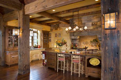 yellowstone club residence rustic kitchen