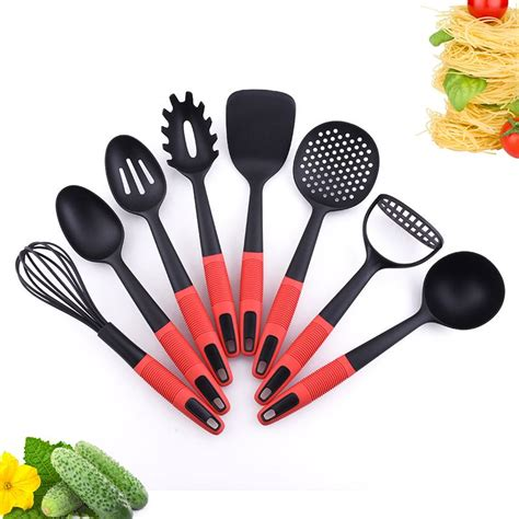 kitchen nylon utensils safe nonstick piece fda lfgb pass standard