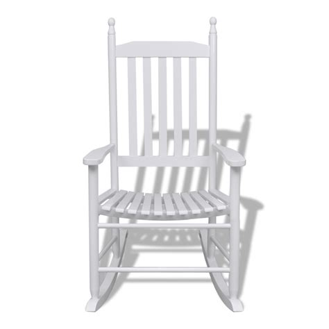 vidaxl co uk wood rocking chair white curved seat