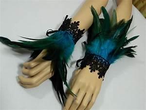 Black Swan Kostüm Selber Machen : feder armb nder t rkis pfau kost m tribal travestie gogo samba tanzen armschmuck kost me ~ Frokenaadalensverden.com Haus und Dekorationen