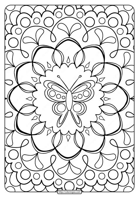 printable butterfly adult coloring pages