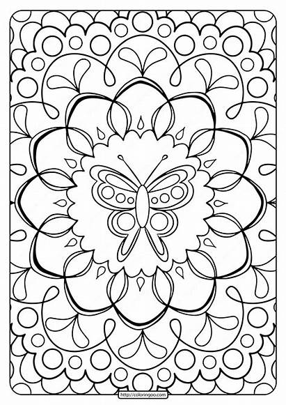 Coloring Printable Adult Butterfly