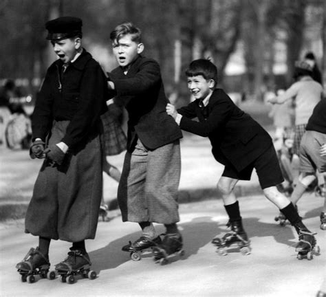 1930 Pierre Jahan Kids on roller skates in Paris. | Roller ...