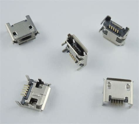 4 pin l socket aliexpress com buy 50 pcs micro usb type b female 5 pin