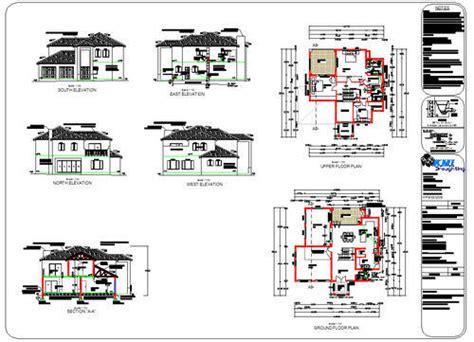 building plans  double storey house plans   price   autocad dwg format  sold