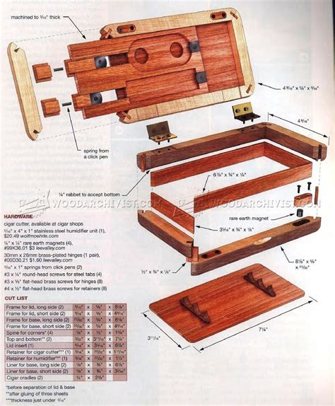 pocket humidor plans woodworking plans humidor plans