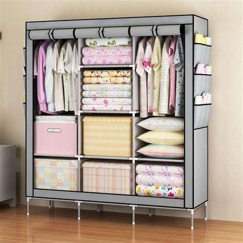 portable closet rack 2 color portable 68 closet clothes rack cabinet