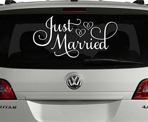 married car decal white     married
