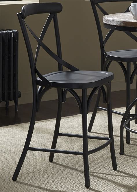 x back counter stool liberty furniture vintage dining series x back counter 1678