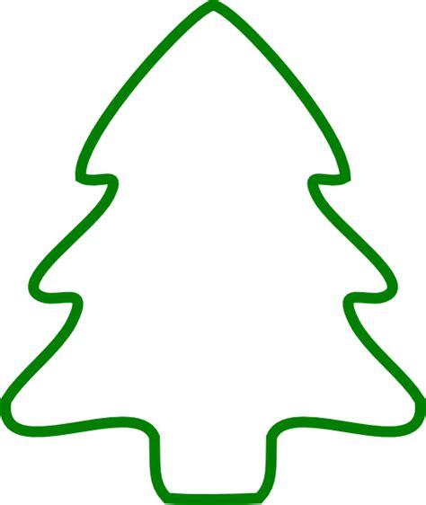 outline   christmas tree   clip art