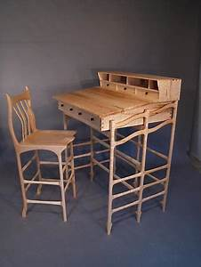 Stand Up Desk And Stool By John Wesley Williams  Wooden