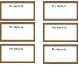 Name Tag Templates Printable