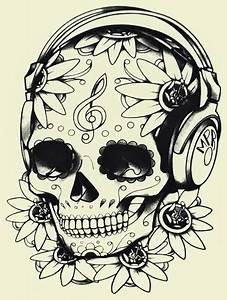 Tete De Mort Mexicaine Dessin : d bardeur femme divers t te de mort mexicaine musique ~ Melissatoandfro.com Idées de Décoration