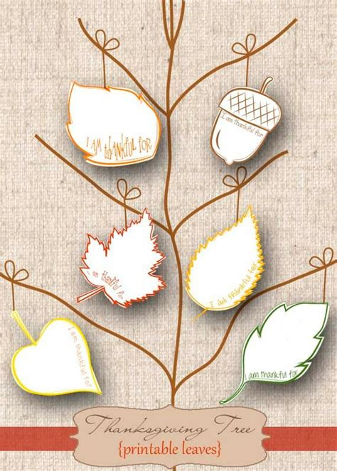 thanksgiving tree printable leaves instant