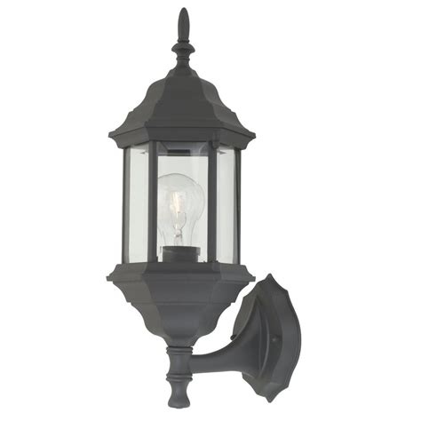 outdoor wall light with six sided glass shade 9224 bk destination lighting