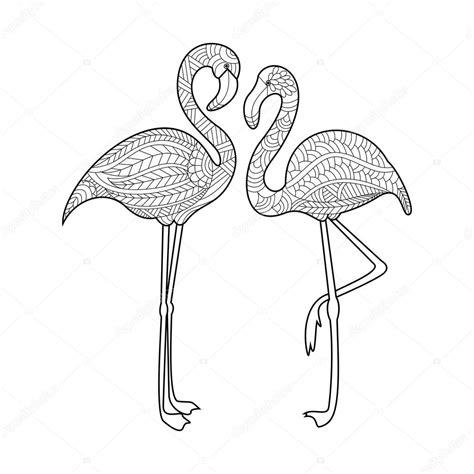 Flamingo Kleurplaat by Flamingo Coloring Book For Adults Vector Stock Vector