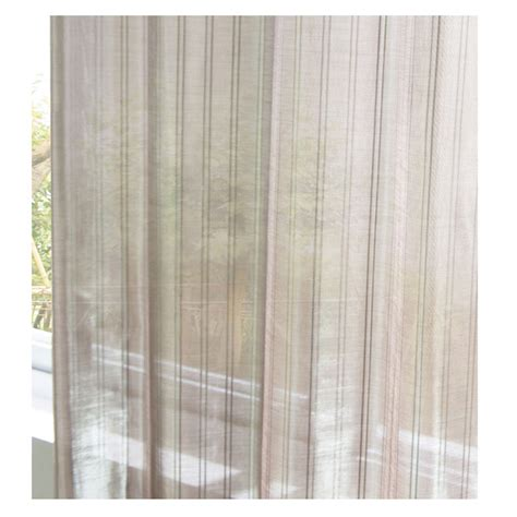 Striped Sheer Curtain Panels by Classic Striped Light Brown Sheer Curtains For Living Room