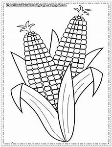 Corn coloring pages printable free printable kids for Corn stalk template