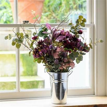 Faux Flowers Arrangement Flower Plum Artificial Silk