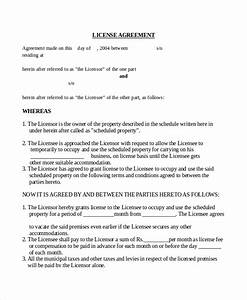 17 agreement templates free sample example format With photo license agreement template
