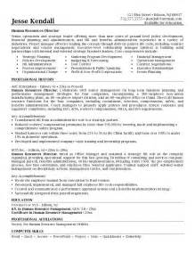 human resources director resume exles exle human resources director resume free sle