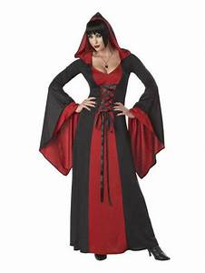 deluxe hooded gown costume womens vampire costumes With robe de vampire
