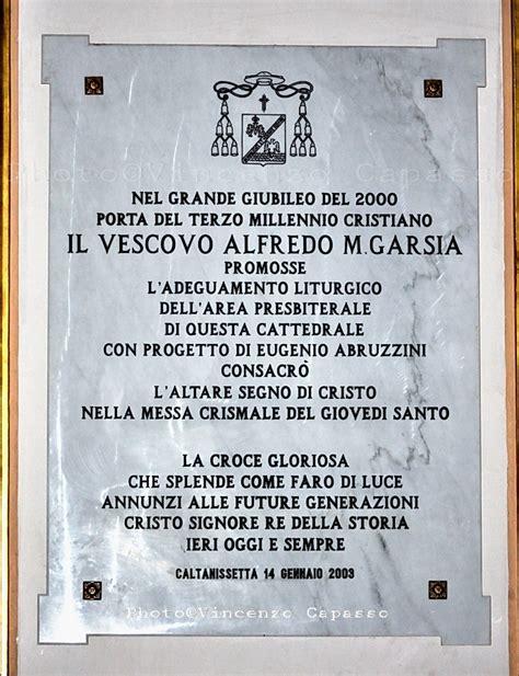 Lapide al Vescovo Alfredo M. Garsia - Guida Caltanissetta Wiki