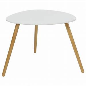 Set De Table Blanc : set de 2 tables d 39 appoint design mileo blanc ~ Teatrodelosmanantiales.com Idées de Décoration