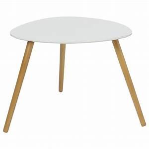Set De Table Design : set de 2 tables d 39 appoint design mileo blanc ~ Teatrodelosmanantiales.com Idées de Décoration