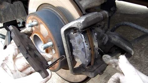 change  honda accord   rear brake change