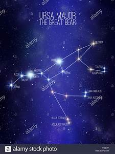 Ursa Major The Great Bear Constellation On A Starry Space