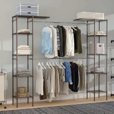 Freestanding Closet Organizer by Free Standing Closet Systems You Ll Wayfair