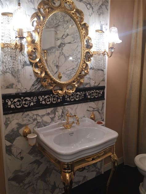 gold bathroom mirror luxury bathroom designs that revive forgotten styles 12985
