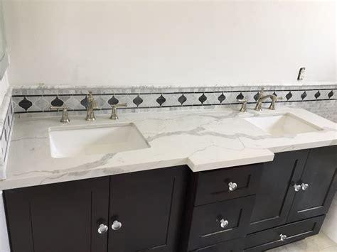 espresso shaker bathroom vanity cabinets  calacatta