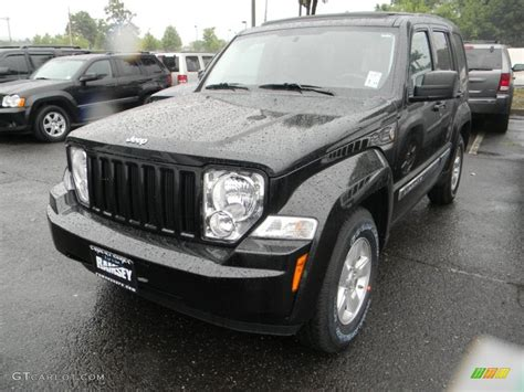 black jeep liberty 2009 brilliant black crystal pearl jeep liberty sport 4x4