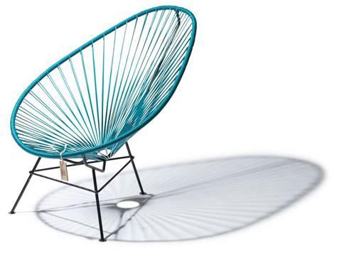 fauteuil acapulco en couleur bleu pétrole le fauteuil