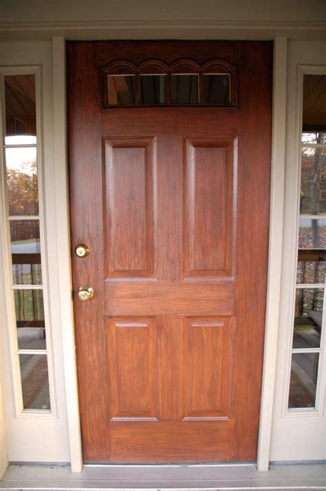hometalk front door redo using faux wood grain technique