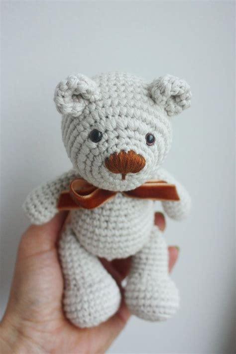 crochet teddy pattern little teddy bear amigurumi pattern teddy crochet tutorial instant download