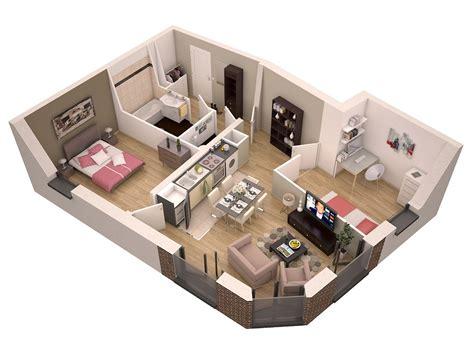 plan 3d chambre plan de maison 2 chambres 60 m plan de maison plan