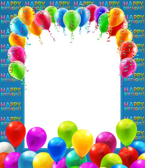 happy birthday transparent png frame with balloons gallery yopriceville high quality images