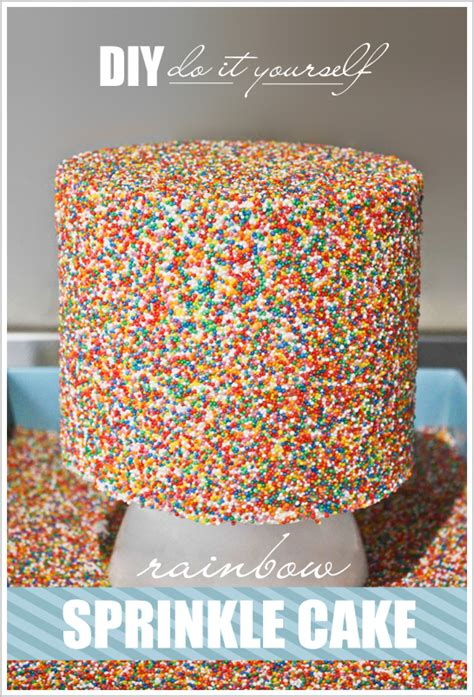 sprinkle rainbow cake tutorial edible crafts