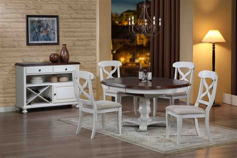 white kitchen set furniture sunset trading 5pc pedestal dining set in antique