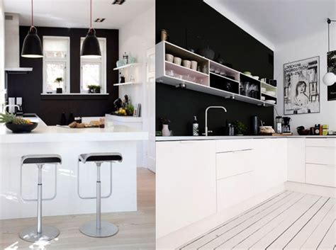 cuisine blanc et noyer 20 inspirations pour une cuisine en noir et blanc joli place