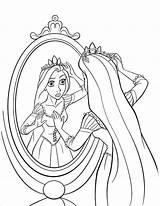 Rapunzel Disney Coloring Pages Princess Printable Sheets Na Pikmin Tangled Colouring Mirror Ausmalbilder Prinzessin Kinder Adults Vlasku Fuer Looking Cz sketch template