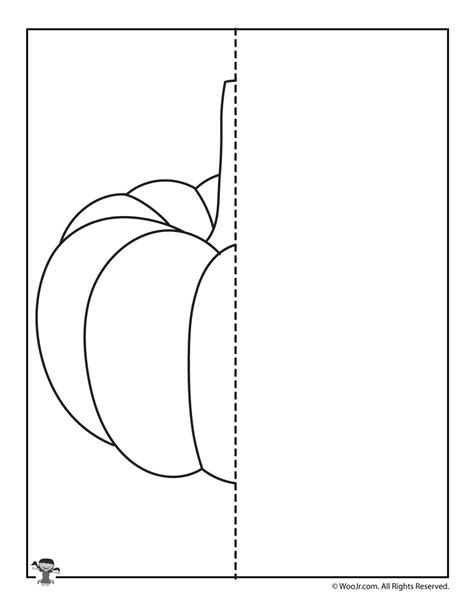 pumpkin symmetry drawing worksheet woo jr kids activities