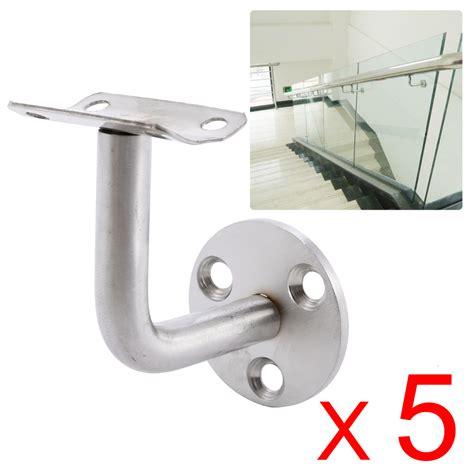 banister rail brackets 5 stainless steel handrail stair wall brackets rail