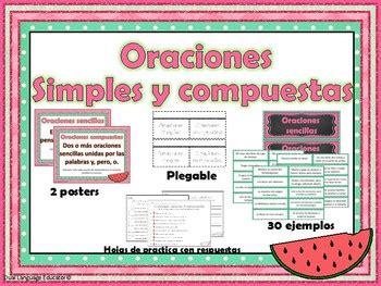 oraciones simples  compuestas simple  compound