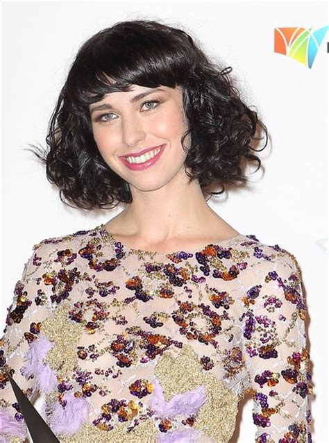 kimbra hairstyles short black curly hairstyle  bangs